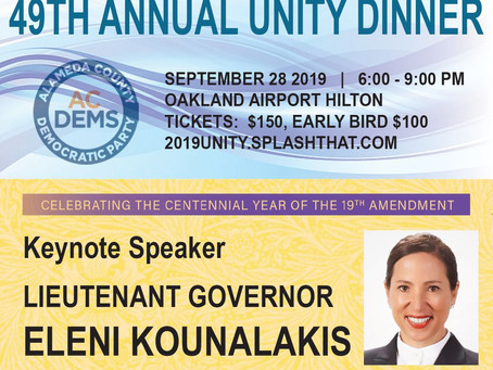 Alameda Dems Unity Dinner