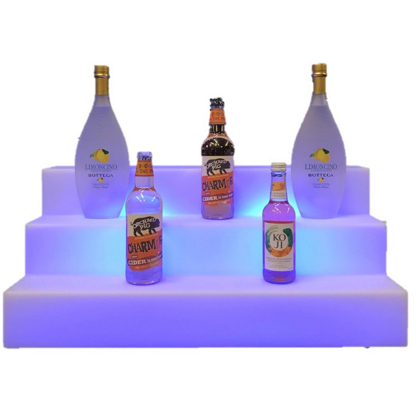 LUM198 Blue Back Bar Unit with bottles6