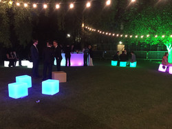 LED Cube Chill Out Area