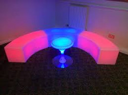 Curved LED Bench for Events