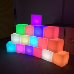 Decorative LED Cube Hire for Events