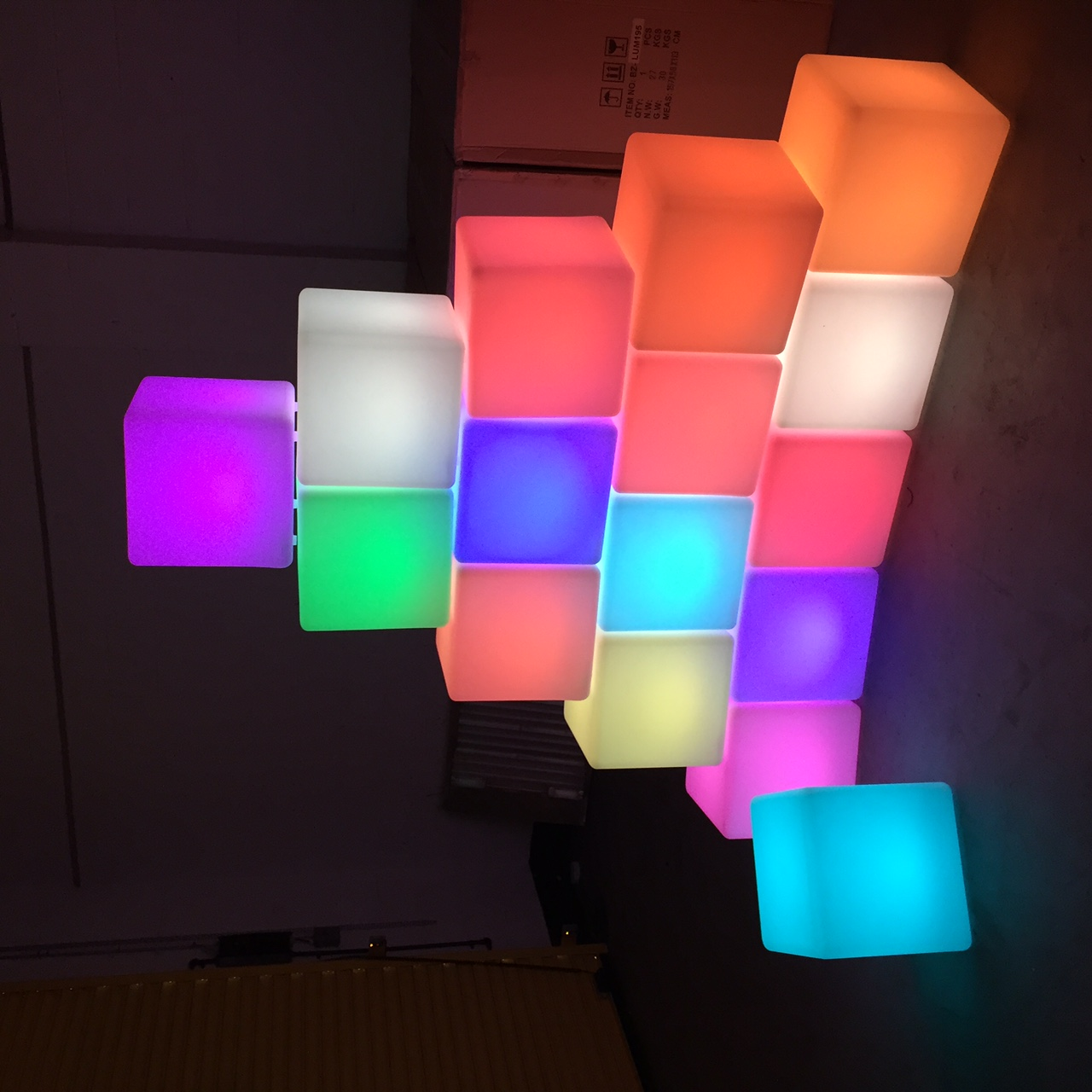 Illuminated Glowing LED Cube Hire
