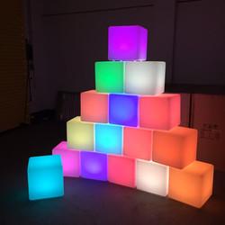 Illuminated Glowing LED Cube Hire