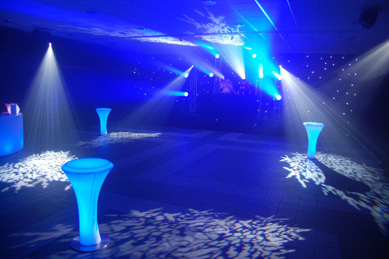 LED Poseur Table Hire - Blue