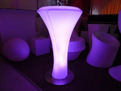 Glowing Poseur Tables for Events Hir