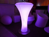 LED Glowing Poseur Table Hire