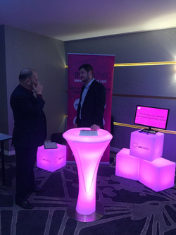 LED Furniture for Exhibitions Hire