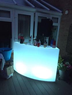 Small Illuminated LED Bar Hire