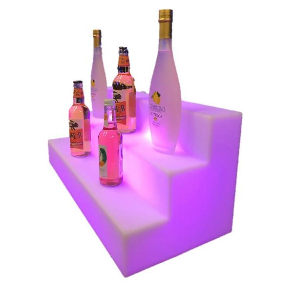 LUM198 Back Bar Unit with bottles side angle