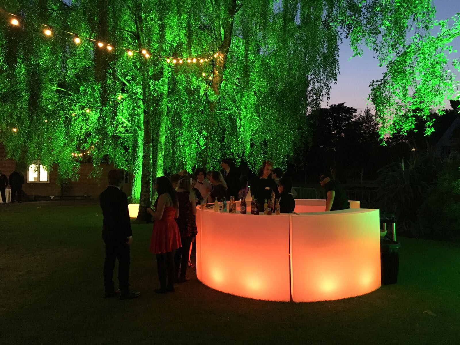 Glowing Illuminated LED Bar Hire