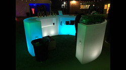 LED Bar Hire with Shelves