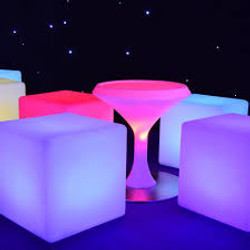 LED Chill Out Area Tables