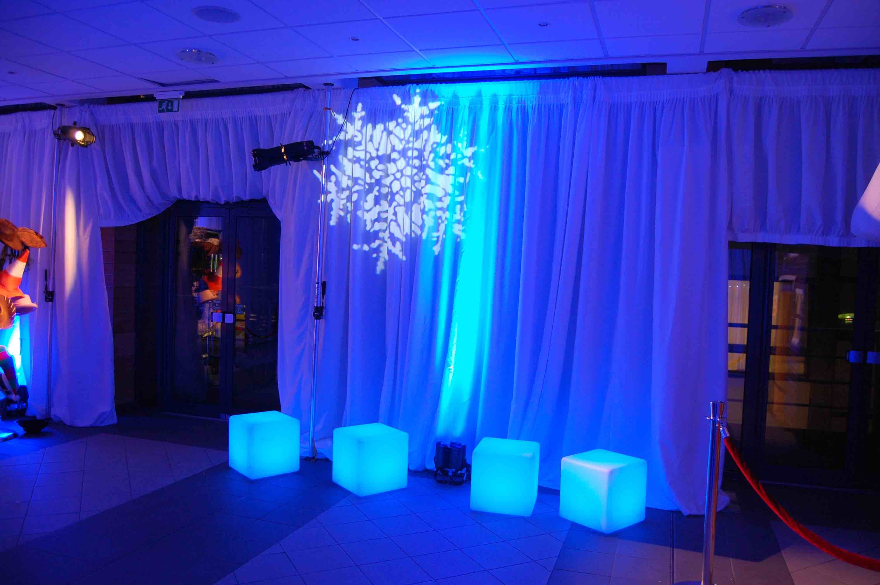LED Cube Seating for Events Hire