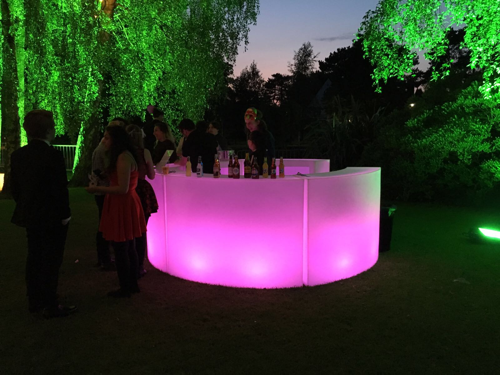 Modular LED Bar Section Hire