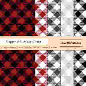 Diagonal Buffalo Check Papers Pack Preview Image