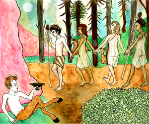 Dionysus Leading Maenads