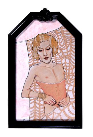 Barbette (rose gold satin champagne)