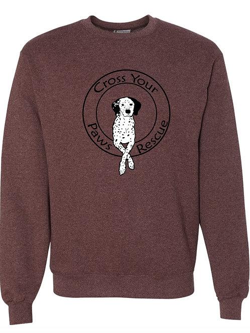 Maroon Heather Crewneck Logo Sweatshirt