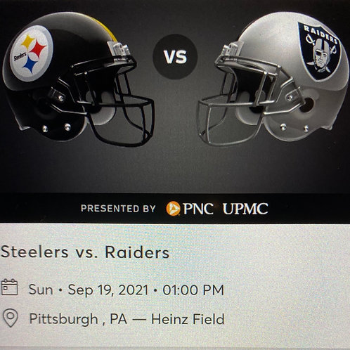 Tip for a chance at 2 Steelers vs Raiders Tickets