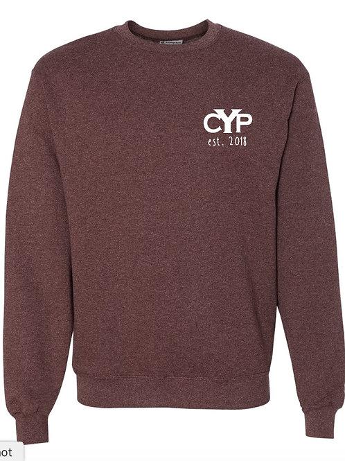 Maroon Heather Crewneck Collegiate Sweatshirt