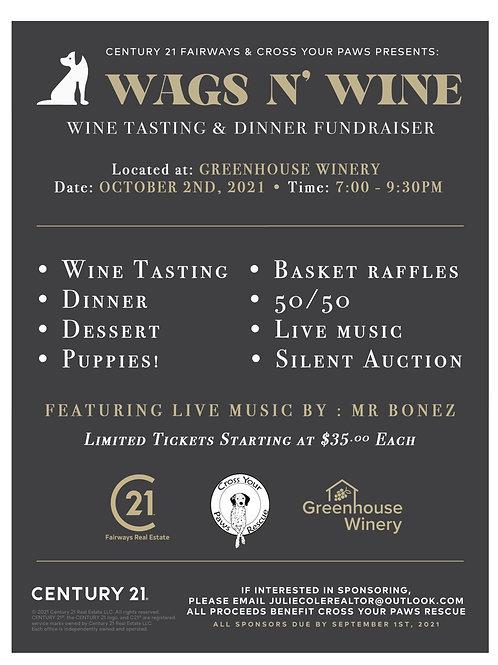 Wags N' Wine ticket