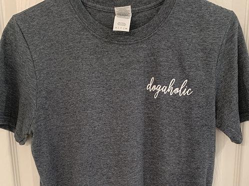 Dogaholic Gray T-Shirt