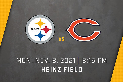 2 Tickets to the Steelers Vs Bears game! November 8th