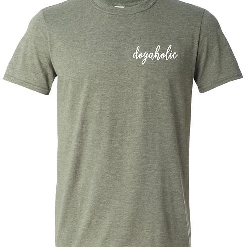 Dogaholic Green T-Shirt