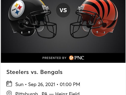 Tip for a chance for 2 Steelers vs Bengal tickets