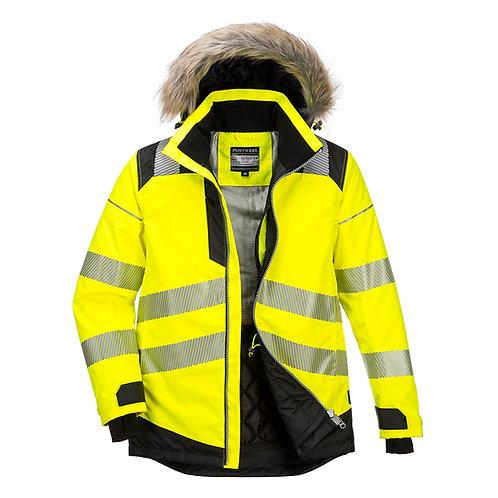 PW369 - PW3 Hi-Vis Winter Parka Jacket Yellow/Black