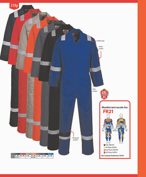 FR21 FR Antistatic Coverall