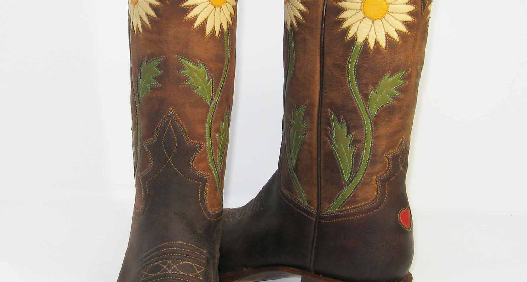 Daisy Inlays, goat vamps and tops.