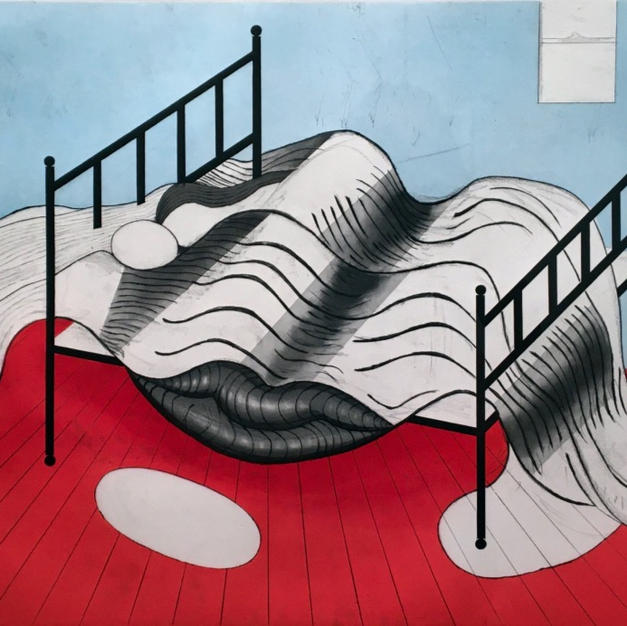 Le Lit – Gros Édredon (with lips), (The Bed - Large Eiderdown with Lips), 1997