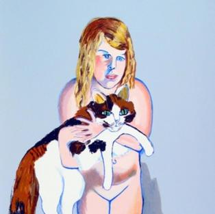 Virginia with Cat, 1981
