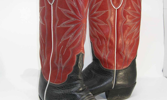 Punchy boots, worn for weddings
