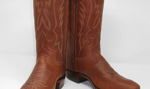 Oil Tanned Water Buffalo with 3 Row Stitching on Goat tops.