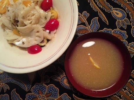 れんこんゆで汁の美味なこと!