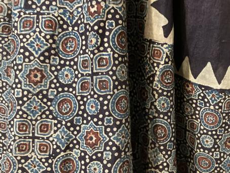 インドの藍 草木染め布展 in プテア