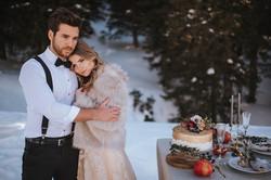 Hochzeitstorte mit Gold