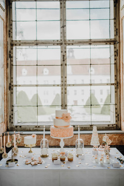 Pfirsich Hochzeitstorte