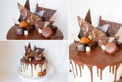 Moderner Schokoladekuchen