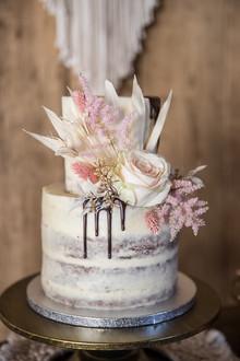 Semi Naked Cake Drip