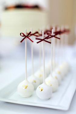 Cakepops mit Blattgold