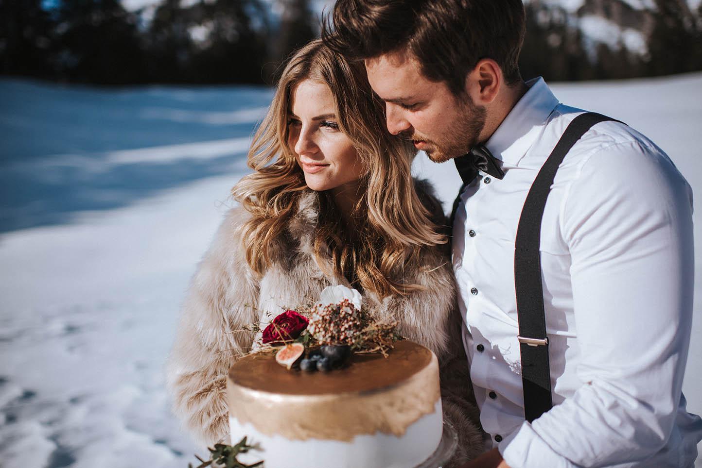 Hochzeitstorte Winterhochzeit