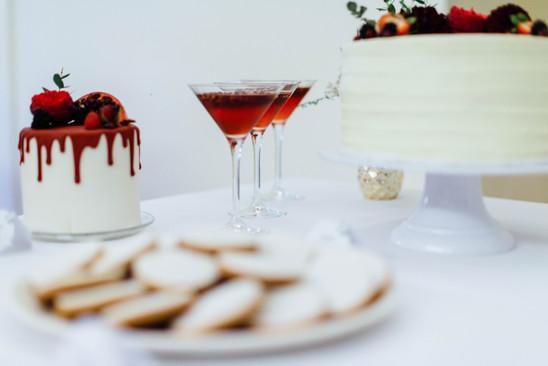 Sweet-Table Konzept Coral Boho Kiss - Kuchenwunder