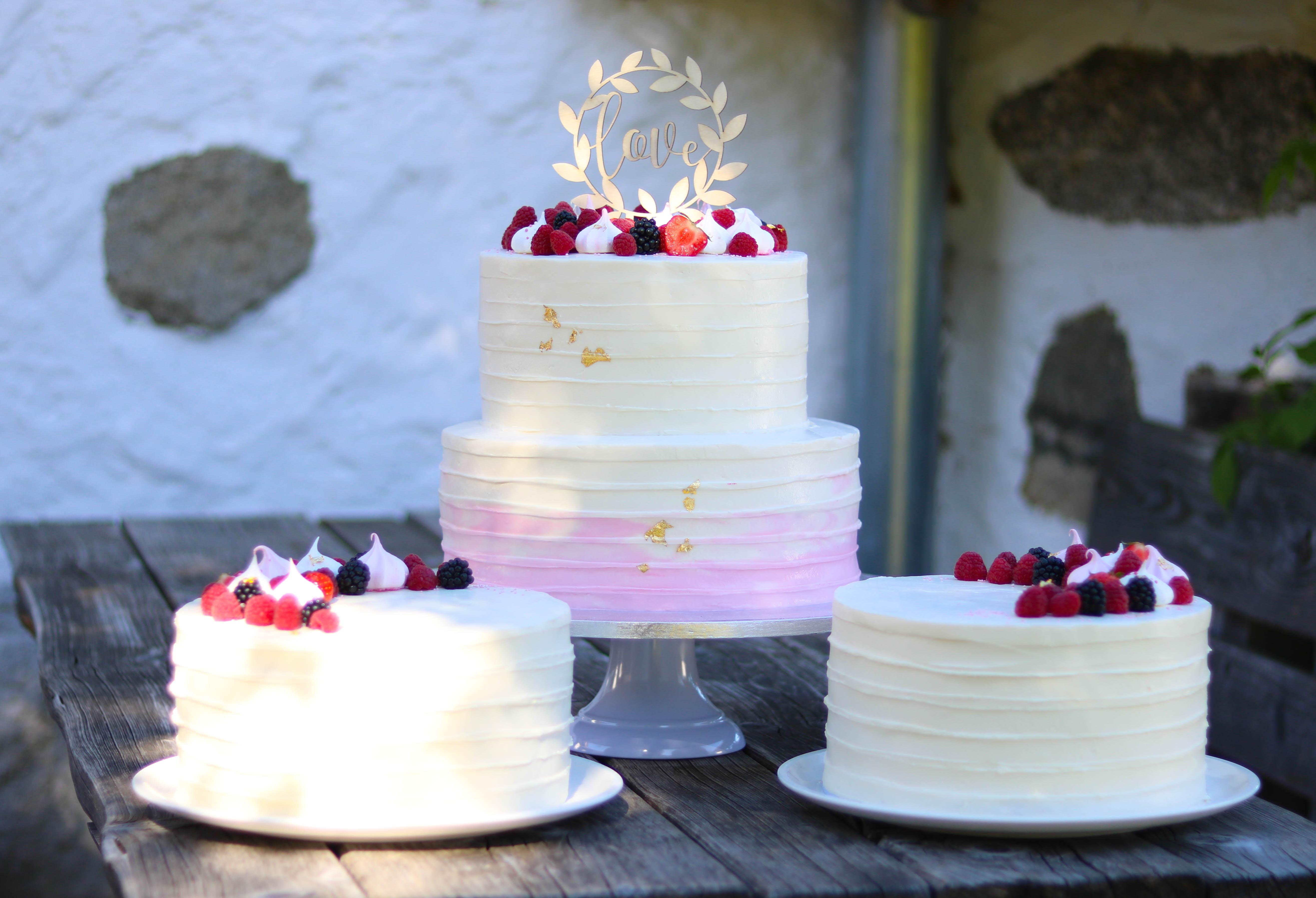 Torte mit Farbverlauf