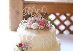 Wedding Cake with Cream