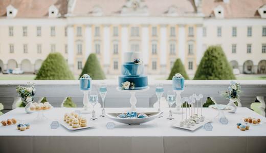 Dusty Blue Sweet-Table Kuchenwunder