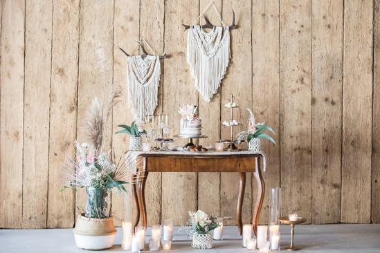 Boho Makramee Table