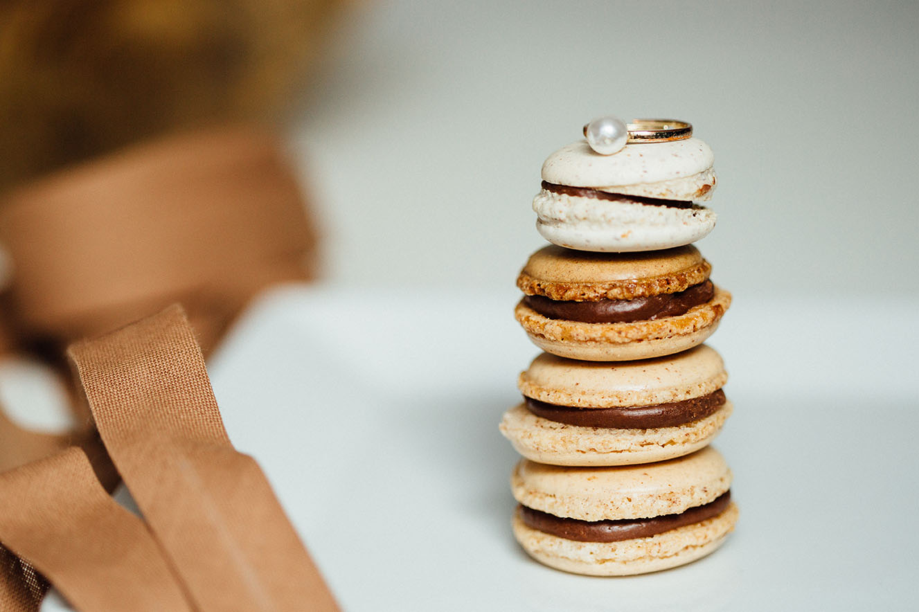 Macarons Kaffee Schokolade